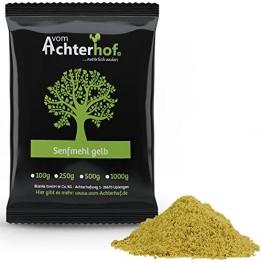 1 kg Senfmehl Senfsaat gelb gemahlen , teilentölt zur Senfherstellung -