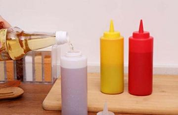 3Kunststoff Squeeze Sauce Flaschen Spender/Würze Container für Senf Ketchup-Öl Creme Honig und Salatdressing -