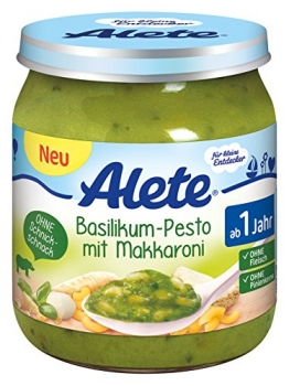 Alete Basilikum-Pesto mit Makkaroni, 6er Pack (6 x 250 g) -