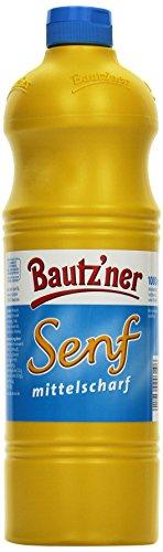 BAUTZ'NER Mittelscharfer Senf, 4er Pack (4 x 1 l) -