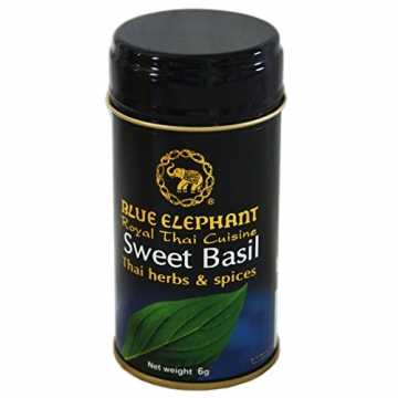 Blue Elephant 6g Thailaendisches Basilikum getrocknet (grob zerkleinert) fuer Thai Curry -