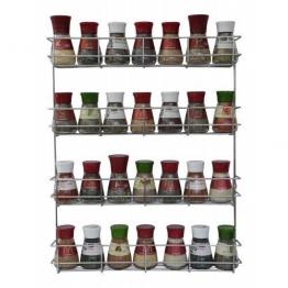 COPA Design 4 Etagen Kräuter- und Gewürzregal | Spice Organizer Wand montieren oder Küche Schrank Aufbewahrung (einfach zu installieren) | Messungen: (bxdxh): 500 x 66 x 405 mm | integrierte Gewürzregal für 4 x 8 Töpfe -