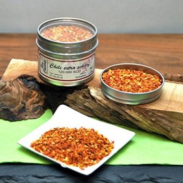direct&friendly Bio Geschenkset für Scharfesser mit Chiliöl und Chili von mittelscharf bis extrascharf -
