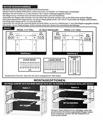 Gewürzregal Küchenregal beliebig verstellbar Regal für Küchenschränke -