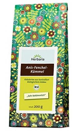 Herbaria Anis-Fenchel-Kümmel-Tee ,2er Pack (2x 200 g Tüte) - Bio -