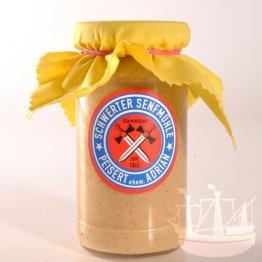 Honig Senf, im Glas, 'ohne Zuckerzusatz', passt zu Käse, Fisch & Weisswurst, 185ml - Bremer Gewürzhandel -