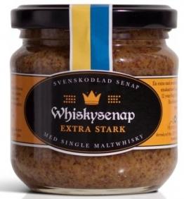 Hovdelikatesser Whisky Senf - extra scharf aus Schweden 185 g (mit 12 Jahre altem Single Malt Whisky) -