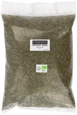 JustIngredients Bio-Basilikum, Organic Basil, 2er Pack (2 x 500 g) -