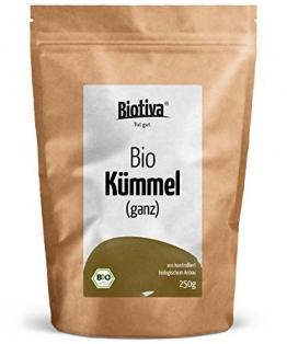Kümmel ganz (250g, Bio) I 100% Bio (DE-ÖKO-005) I Top Premiumqualität I Tee (Babytee) oder Wickel I Intensiv im Duft und Geschmack I Wohltuend bei Bauch- und Magenbeschwerden -