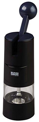 Kuhn Rikon 25550 Gewürzmühle, Edelstahl, schwarz, 5,7 x 5,7 x 21,3 cm -