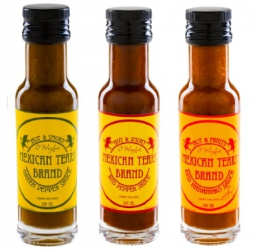 Mexican Tears® - 3er Pack, scharfe Sauce aus Habaneros und Chipotle [3x100ml Chilisauce] -