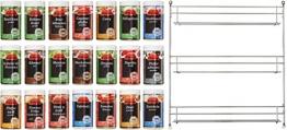 Ostmann Chrom-Gewürzregal gefüllt mit 21 Gewürzdosen, -