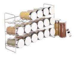 Polder 18-Glas-Gewürzregal, silberfarben -