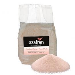 Rosa Kristallsalz aus Pakistan (auch bekannt als Himalaya Salz) 1kg fein von Azafran® | Steinsalz | Ursalz - Intensiv im Geschmack -