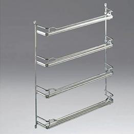 SO-TECH® Gewürzregal für 4 x 6 Gewürzdosen Silber Pulverbeschichtet -