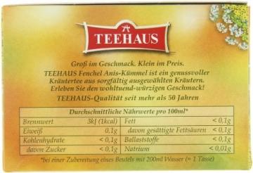 Teehaus Fenchel Anis-Kümmel (Teebeutel), 3er Pack (3 x 80 g) -
