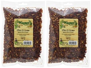 Wagner Gewürze Chillies geschroten, 2er Pack (2 x 100 g) -