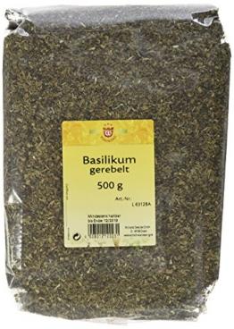Wichartz Würzkönig Basilikum gerebelt, 4er Pack (4 x 500 g) -